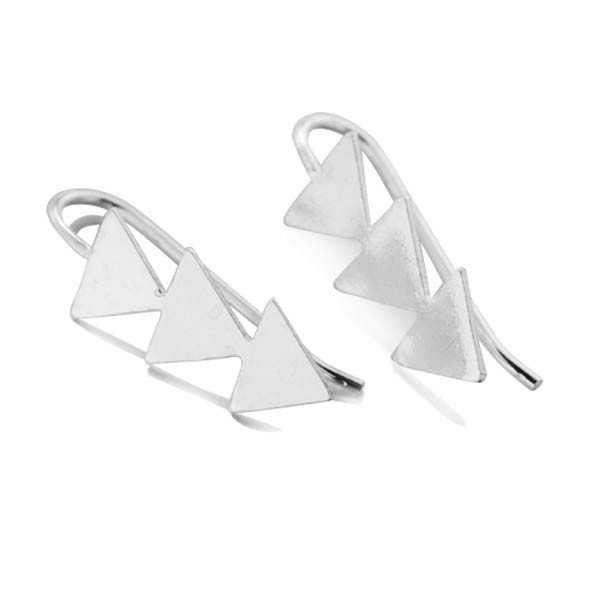 Boucles d'oreilles earline 3 triangles remontant le lobe