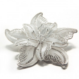 "Broche ""May flower""  fleur en filigrane d'argent"