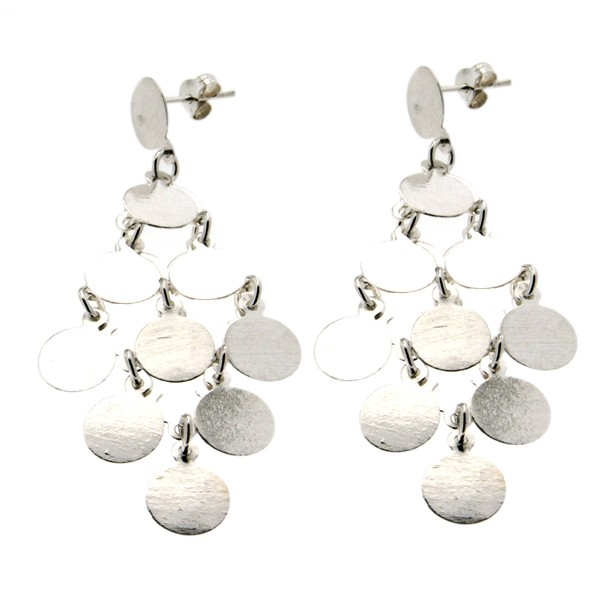 boucles d 39 oreilles madras pendantes argent. Black Bedroom Furniture Sets. Home Design Ideas