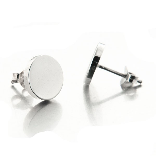 boucles d oreilles puces argent rondes plates mylittlefantaisie. Black Bedroom Furniture Sets. Home Design Ideas