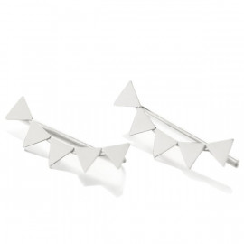 Boucles d'oreilles earline Dakota triangles sur le lobe