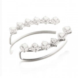 Boucles d'oreilles earline 6 brillants remontant le lobe