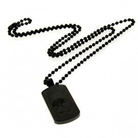 "Collier ""Black Hacker"" en acier"