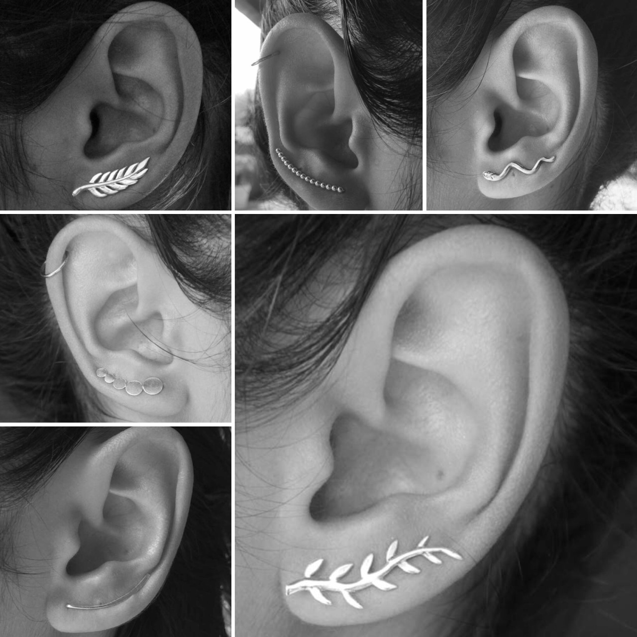 Boucles de lobe ou Earlines en argent